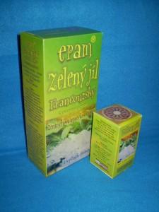 """Francouzský zelený jíl """"kartáček na střeva"""" čistí střeva a trávicí trakt"""